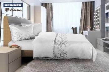 Lenjerie de pat King Size Heinner Home HR-4KGBED144-BLC, Bumbac, 4 piese Alba Lenjerii de pat