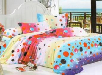 Lenjerie de pat NovaHouse din Bumbac Satinat Buline Culori