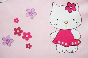 Lenjerie MyKids Little Cat Roz 4 Piese 120x60