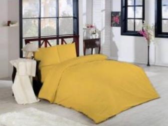 Lenjerie pat 2 persoane Studio Casa Cyt-Happy galben Uni Lenjerii de pat