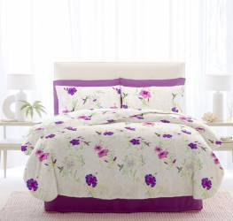 Lenjerie Renforce Riu Rosemallow03 Iris Orchid 1 Persoana 160x220 150x215 70x70 Lenjerii de pat