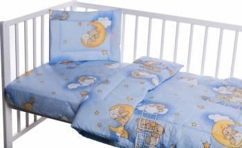 Lenjerie patut cu 3 piese Ursuletul somnoros Albastru Lenjerii si accesorii patut