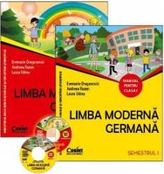 Limba moderna germana Cls 1 Manual+Caiet+Ghidul prof.+CD - Evemarie Draganovici