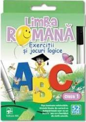 Limba romana - Clasa 1 - Exercitii si jocuri logice. 52 Fise Carti