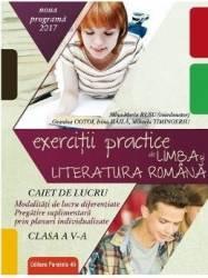 Limba romana - Clasa 5 - Exercitii practice. Caiet de lucru - Mina-Maria Rusu