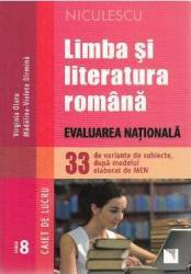 Limba romana - Clasa 8 - Caiet. Evaluare nationala 33 de variante de subiecte - Virginia Olaru Carti