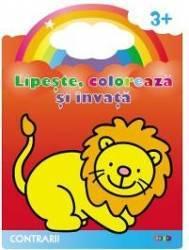 Lipeste coloreaza si invata contrarii 3 ani+