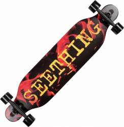 Longboard Action Land Surfer® II ABEC-9, PU, Aluminiu, 100kg  Fire Penny Board
