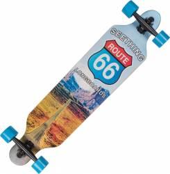 Longboard Action Land Surfer� II ABEC-9, PU, Aluminiu, 100kg  Route 66 BW Penny Board