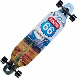 Longboard Action Land Surfer® II ABEC-9, PU, Aluminiu, 100kg  Route 66 Penny Board