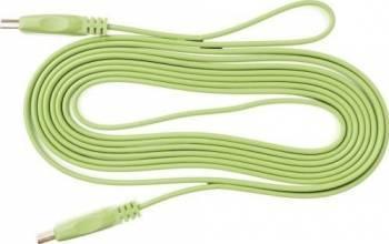 Cablu Kabelwelt HDMI 1.4 Flat Conectori Auriti 3m Verde