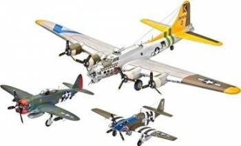 Macheta Revell Gift Set Flying Legends 8th USAAF B-17G P-47D P-51B Machete