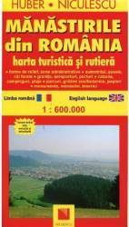 Manastirile Din Romania  Harta Turistica Si Rutiera