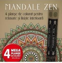 Mandale Zen - 4 Planse de colorat pentru relaxare si liniste interioara