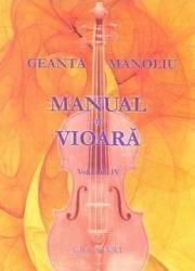 Manual de vioara vol. 4 - Geanta Manoliu Carti