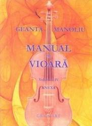 Manual de vioara vol. 4 Anexa - Geanta Manoliu