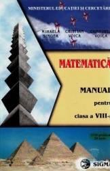 Manual matematica Clasa 8 - Mihaela Singer Cristian Voica Consuela Voica Carti