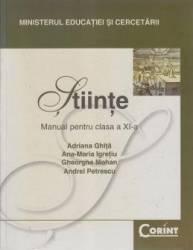 Manual stiinte clasa 11 - Adriana Ghita Ana-Maria Igretiu Gheorghe Mohan