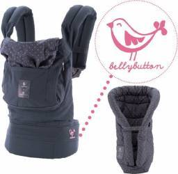Marsupiu cu suport inclus Bellybutton Grey with Pink Polka Dots Marsupii si landouri