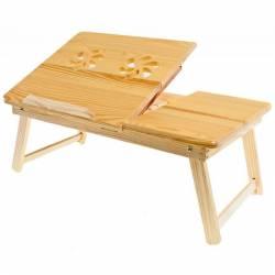 pret preturi Masa din lemn pliabila si unghi reglabil pentru laptop de 17