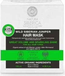 Masca de par Natura Siberica volum si stralucire intensa, Wild Siberian Juniper 120 ml Masca
