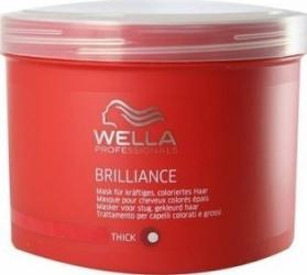Masca de par Wella Brilliance for Thick Hair 500ml