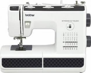 Masina de cusut Brother HF27 (BSM) 27 tipuri de cusaturi Sistem mecanic de bagat ata in ac Alb