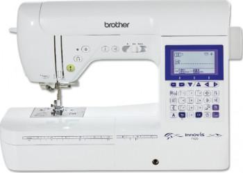 Masina de cusut Brother innov-is f420 140 de cusaturi Afisaj LCD Sistem de introducere a atei in ac Alb Masini de cusut