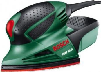 Masina de slefuit multifunctionala Bosch PSM 80 A 80 W cu valiza Slefuitoare si rindele