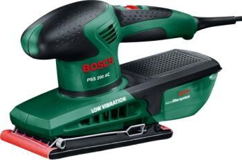 Masina de slefuit cu vibratii Bosch PSS 200 AC 200 W si valiza Slefuitoare si rindele