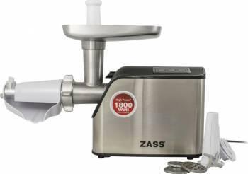 Masina de tocat Zass ZMG 07, 1800W, Cutit Otel Inoxidabil, Acesoriu de rosii inclus, Silver Masini de tocat