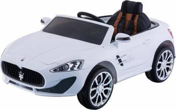 Masina Electrica Copii Moni Grande Roti EVA Alb Masinute si vehicule pentru copii