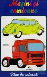 Masini si camioane - Bloc de colorat