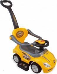 Masinuta De Impins Copii 2 In 1 Baby Mix Z-382 Galben Masinute si vehicule pentru copii
