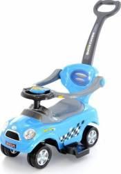 Masinuta de impins EURObaby 321 Mini Cooper - Albastru Masinute si vehicule pentru copii
