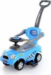 Masinuta de impins EURObaby 321A Mini Cooper - Albastra Masinute si vehicule pentru copii