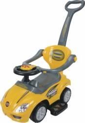 Masinuta de impins EURObaby 382 - Galben Masinute si vehicule pentru copii