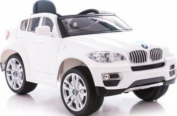 Masinuta electrica BMW White X6 cu telecomanda Masinute si vehicule pentru copii