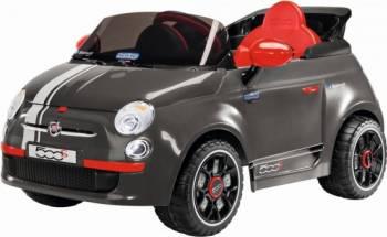 Masinuta Electrica pentru Copii Peg Perego Fiat 500 S cu Telecomanda 6V Gri Masinute si vehicule pentru copii