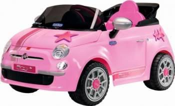 Masinuta Electrica pentru Copii Peg Perego Fiat 500 Star cu Telecomanda 6V Roz Masinute si vehicule pentru copii