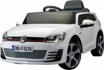 Masinuta electrica VW Golf GTI cu telecomanda White Masinute si vehicule pentru copii