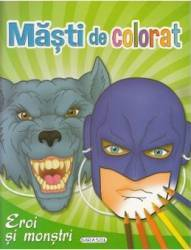 Masti de colorat Eroi si monstri