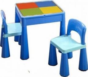 Masuta Guliver cu 2 scaune - Albastru  Decoratiuni camera