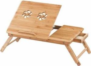 pret preturi Masuta stand din lemn cu 2 coolere pentru laptop