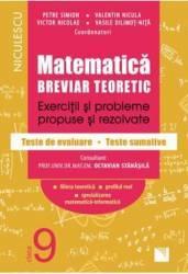 Matematica - Clasa 9 - Breviar teoretic filiera teoretica profilul real mate-info - Petre Simion Carti
