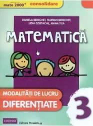Matematica. Clasa a 3-a. Modalitati de lucru diferentiate - Daniela Berechet Florian Berechet Jeana Tita Lidia Costache