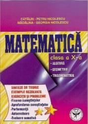 Matematica Cls 10 - Sinteze De Teorie Exemple Rezolvate. Exercitii Si Probleme - Catalin-Petru Nico