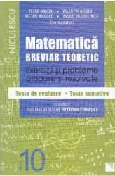 Matematica cls 10 Breviar teoretic ed.2016 - Petre Simion Valentin Nicula