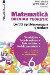 Matematica cls 6 Breviar teoretic ed.2016 - Petre Simion Victor Nicolae