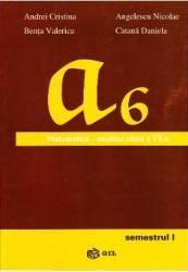 Matematica cls 6 Semestrul 1 Auxiliar - Andrei Cristina Angelescu Nicolae
